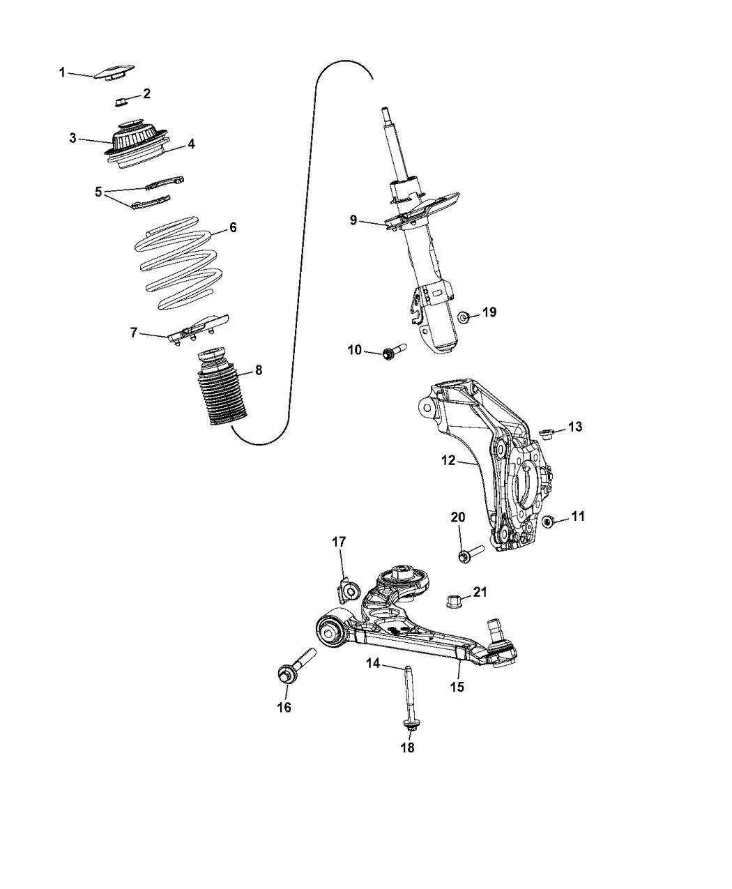 2016 Chrysler 200 Suspension