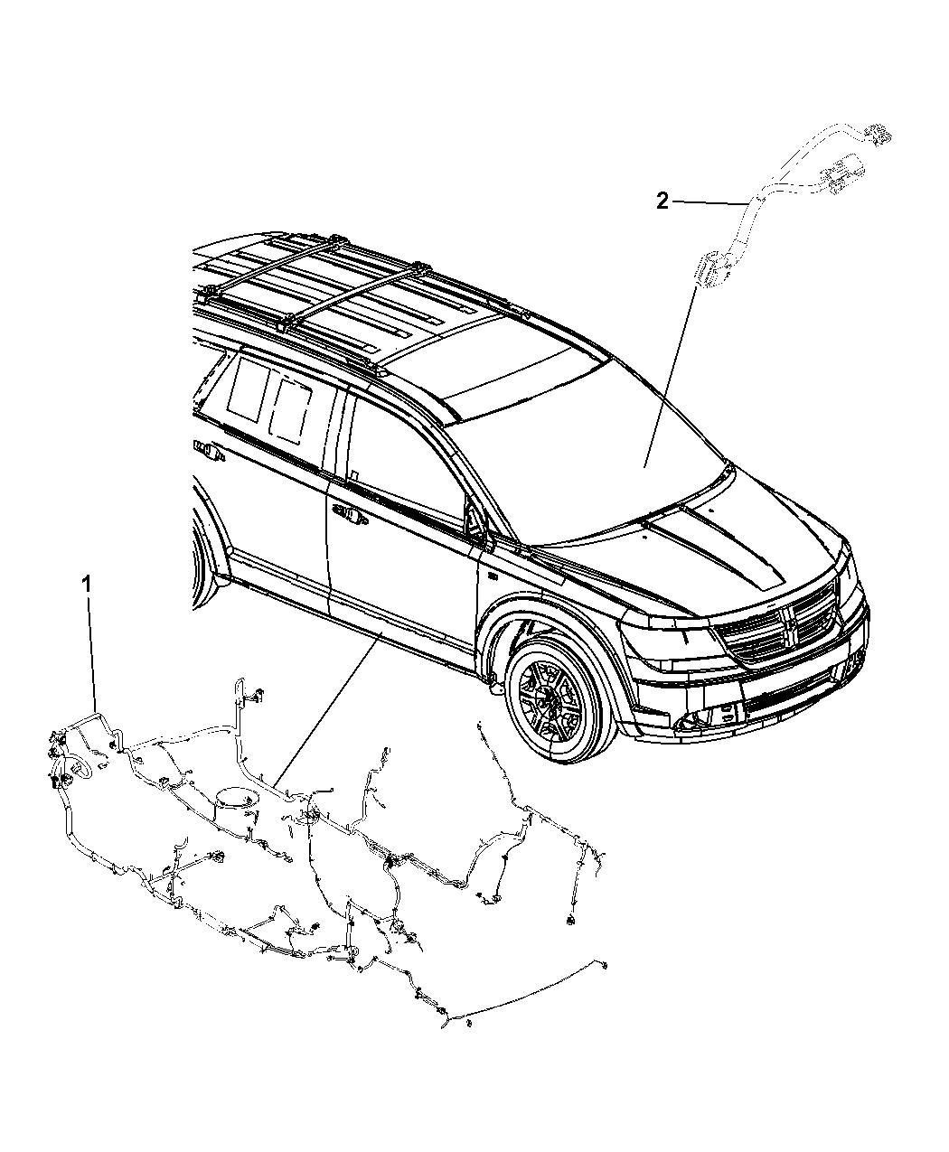 68176389ab Genuine Dodge Wiring Unified Body