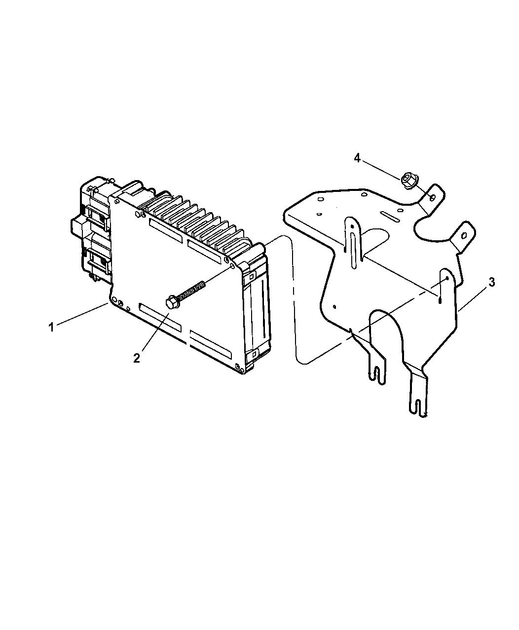 2001 Chrysler 300M Single Board Engine Controller