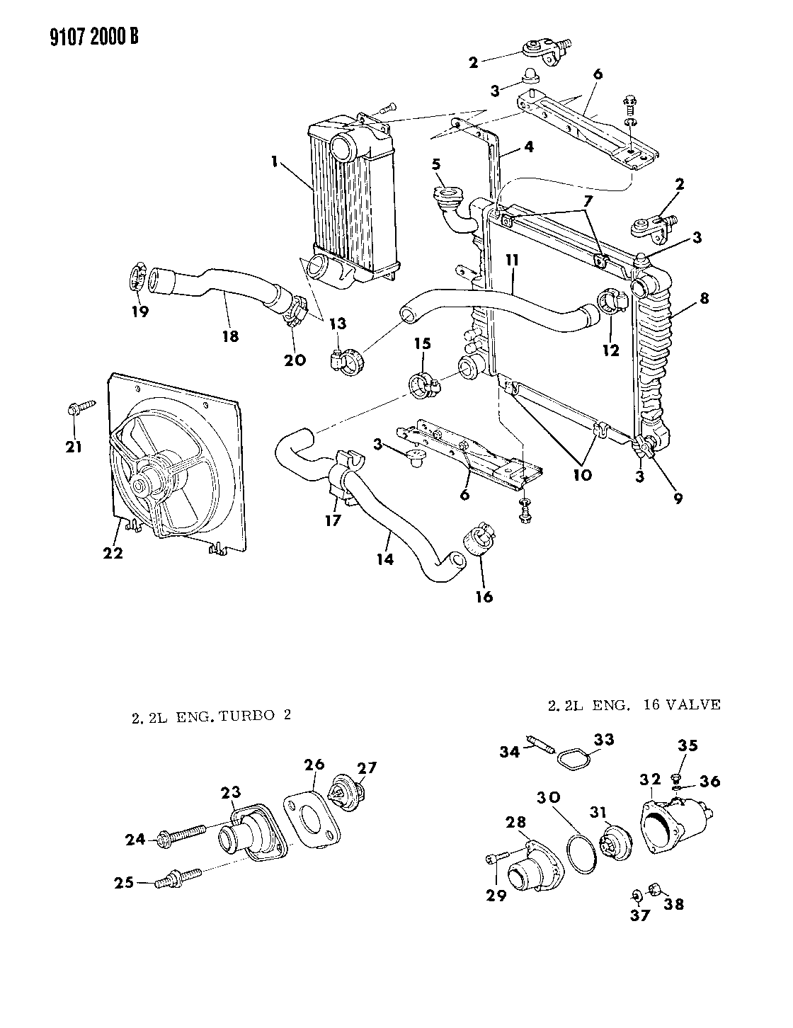 1989 chrysler lebaron gtc radiator intercooler related parts rh moparpartsgiant com 1989 Chrysler LeBaron Dashboard Dodge Wiring Schematics Diagrams
