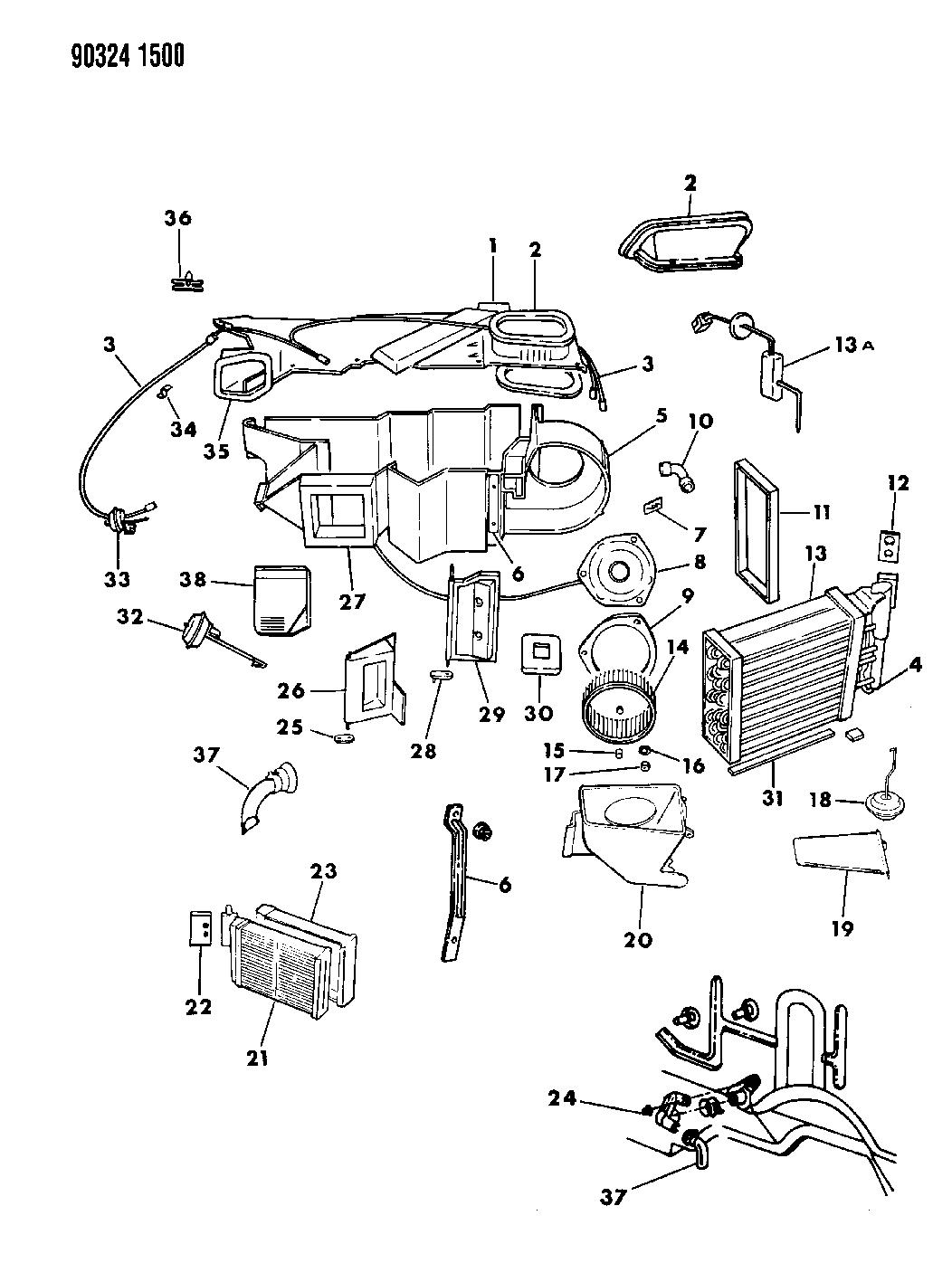 1990 Dodge Dakota Air Conditioner Heater Unit
