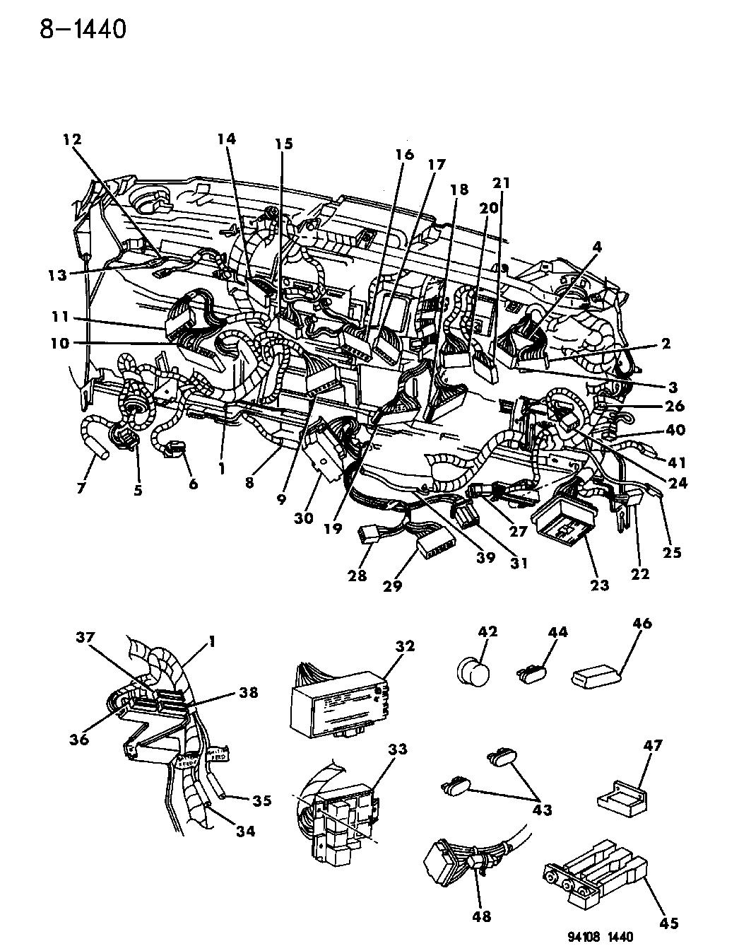 1995 Dodge Caravan Wiring - Instrument Panel