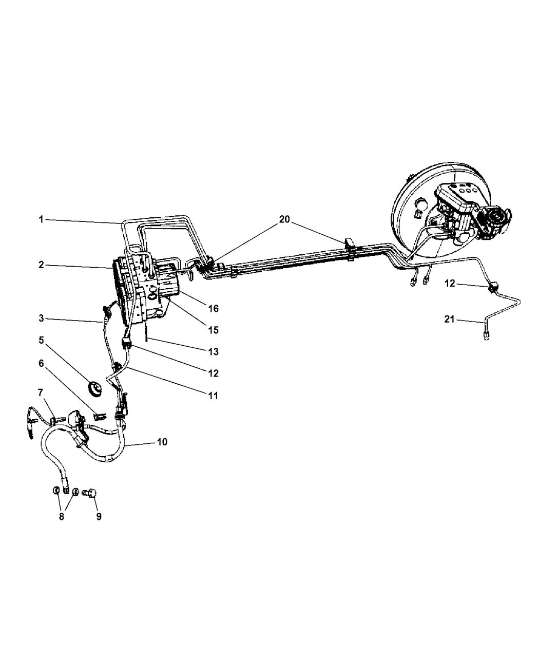 5191006af Genuine Mopar Module Anti Lock Brake System