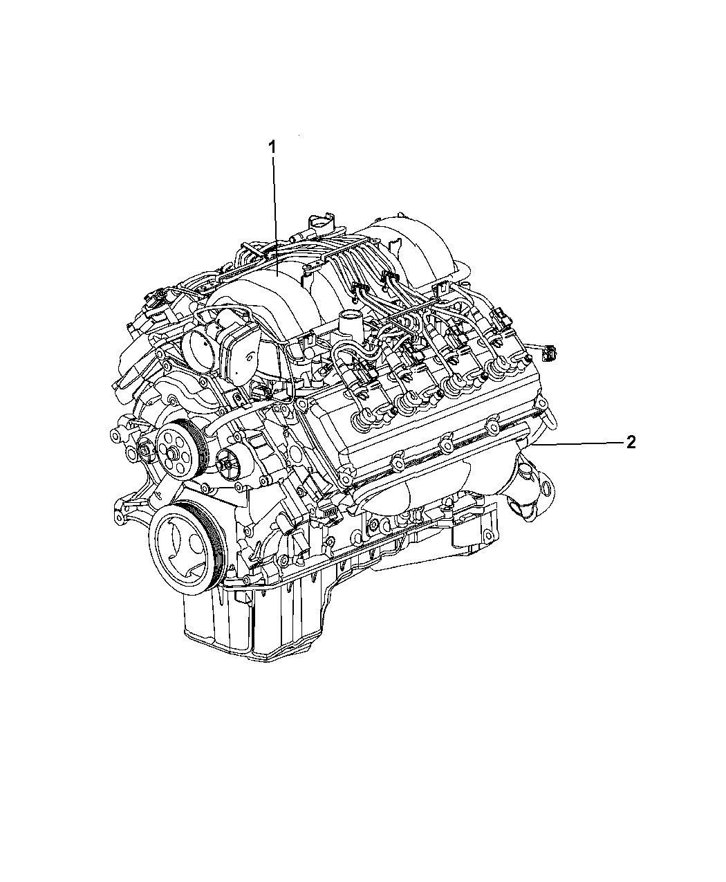2011 Ram 2500 Engine Assembly Service Mopar Parts Giant Diagram Thumbnail 1