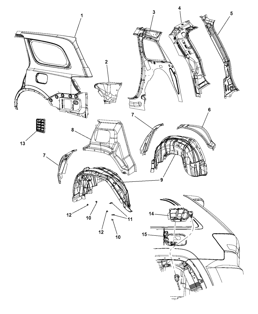 2014 Dodge Durango Quarter Panel Mopar Parts Giant Fuse Diagram