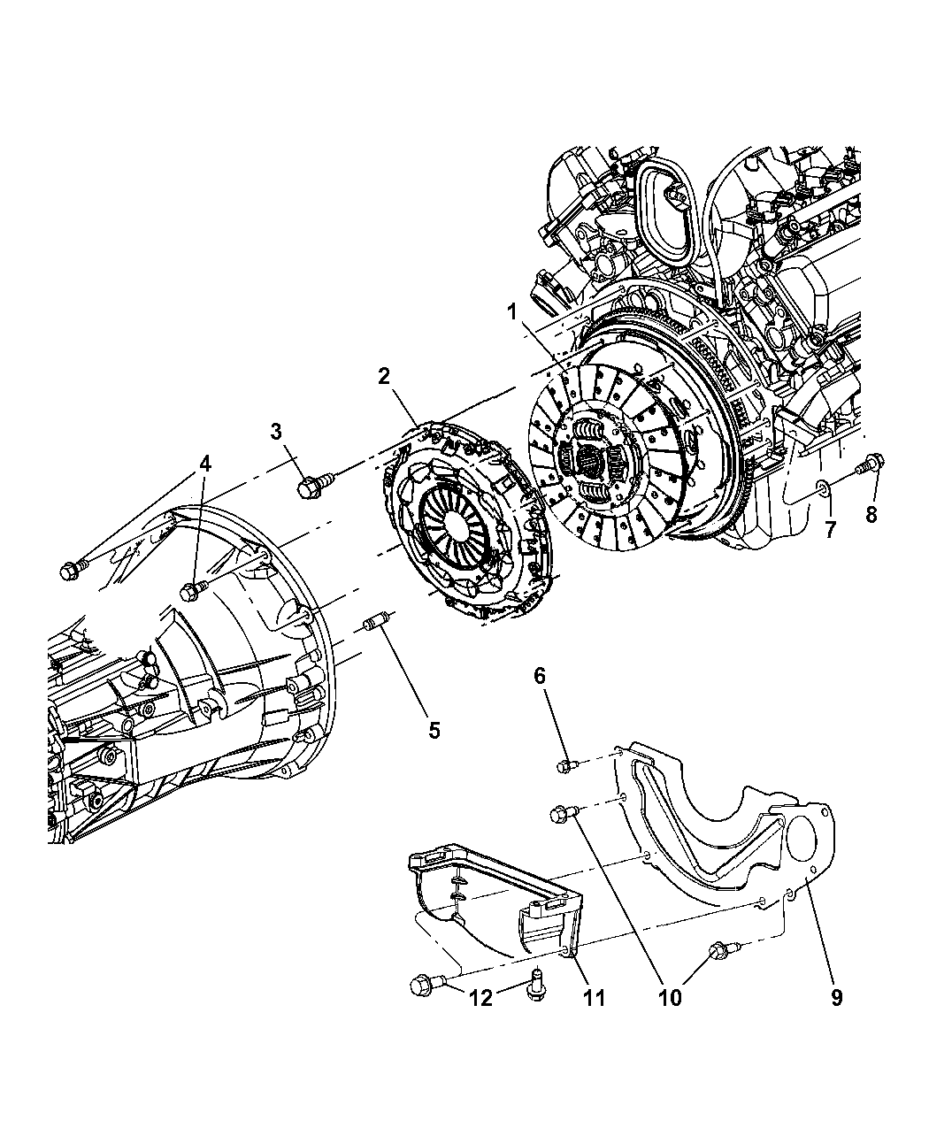 2005 Dodge Ram 1500 Clutch Assembly - Thumbnail 1