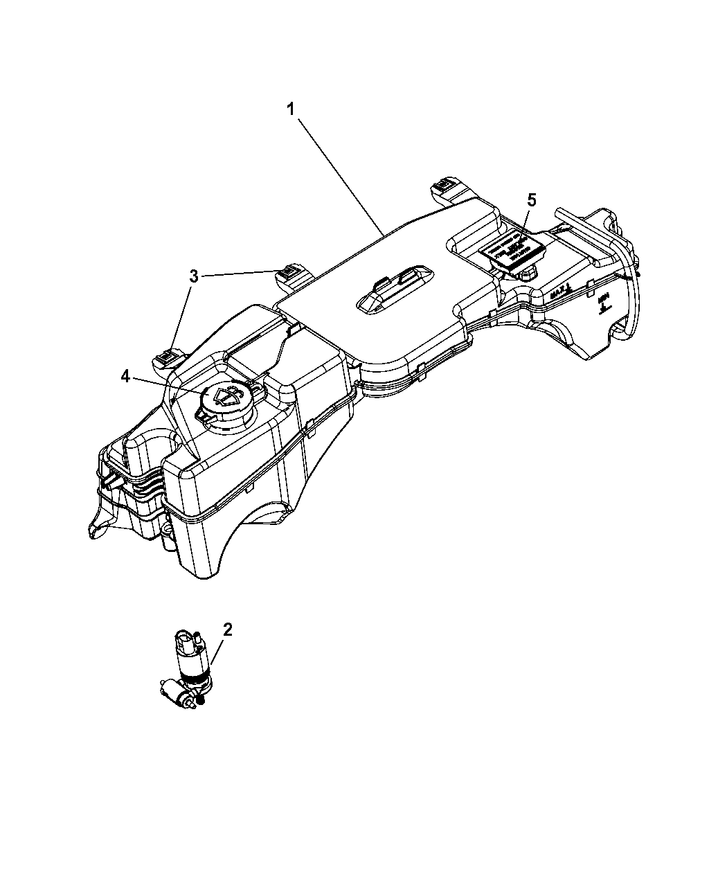 2007 Dodge Nitro Coolant Tank
