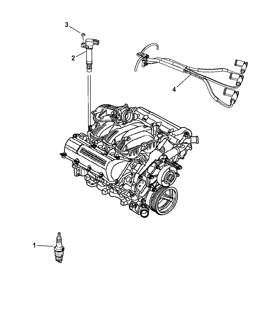2011 Dodge Nitro Ignition Spark Plugs, Cables & Coils