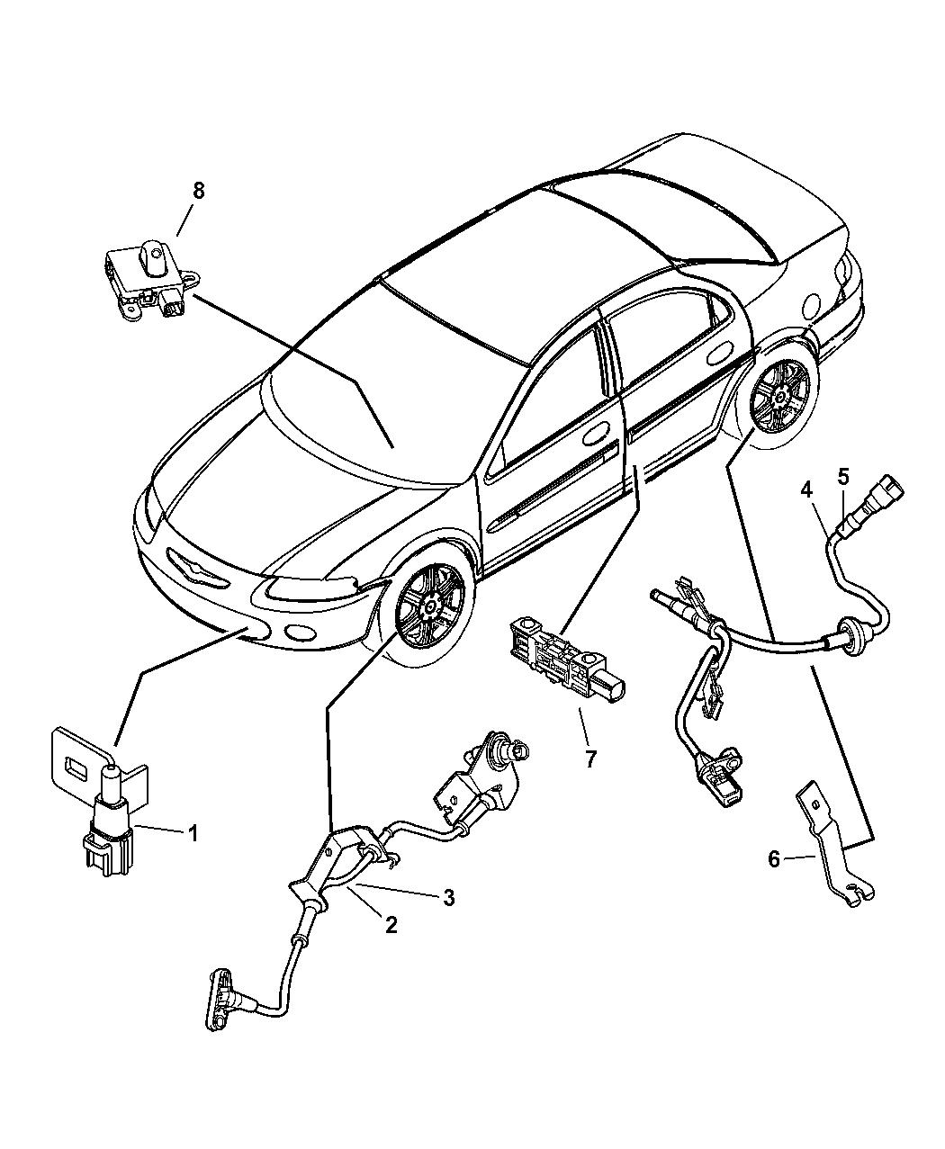 2005 Chrysler Sebring Sedan & Convertible Sensors