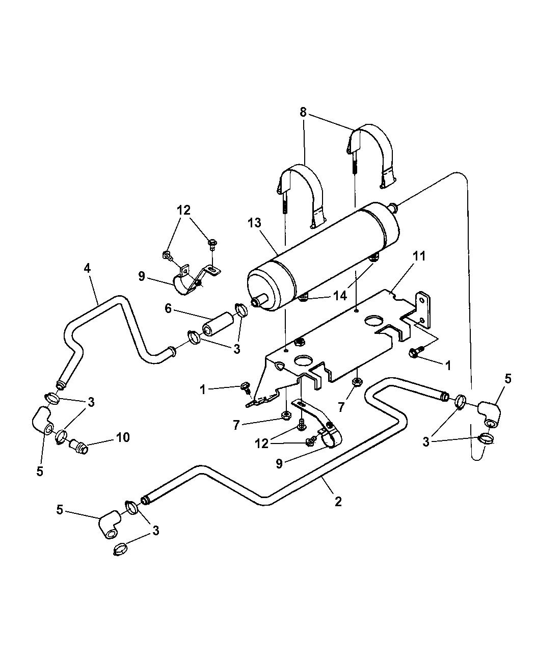 1998 dodge ram transmission lines