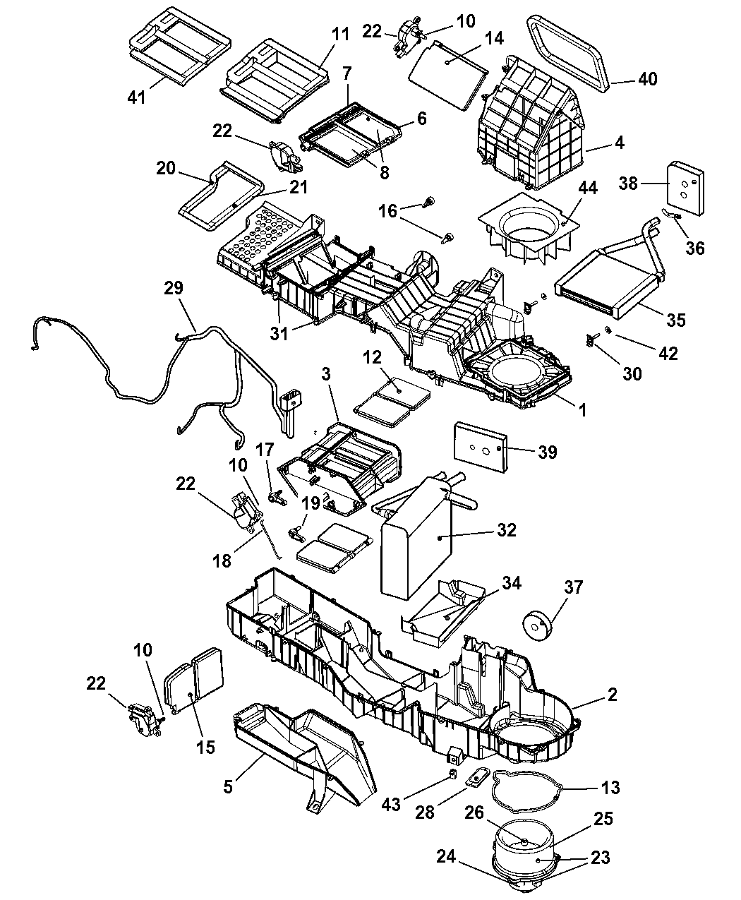 5073994AA - Genuine Dodge WIRING-A/C AND HEATER