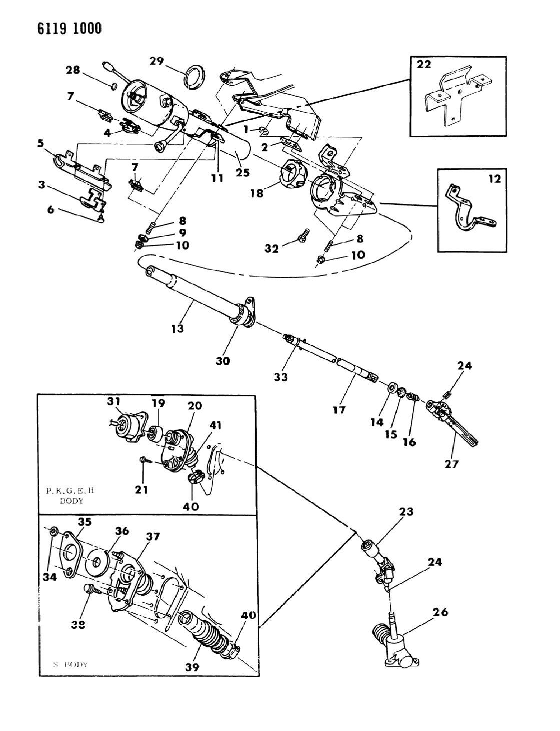1986 Chrysler Lebaron Gts Column  Steering  Lower With Or