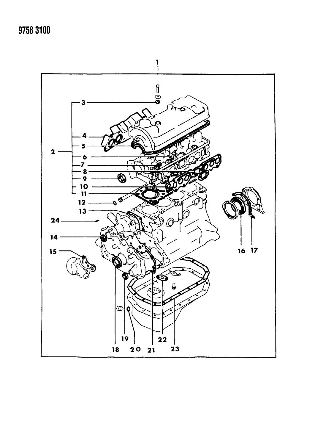 1989 Dodge Ram 50 Engine Gasket Sets - Thumbnail 1