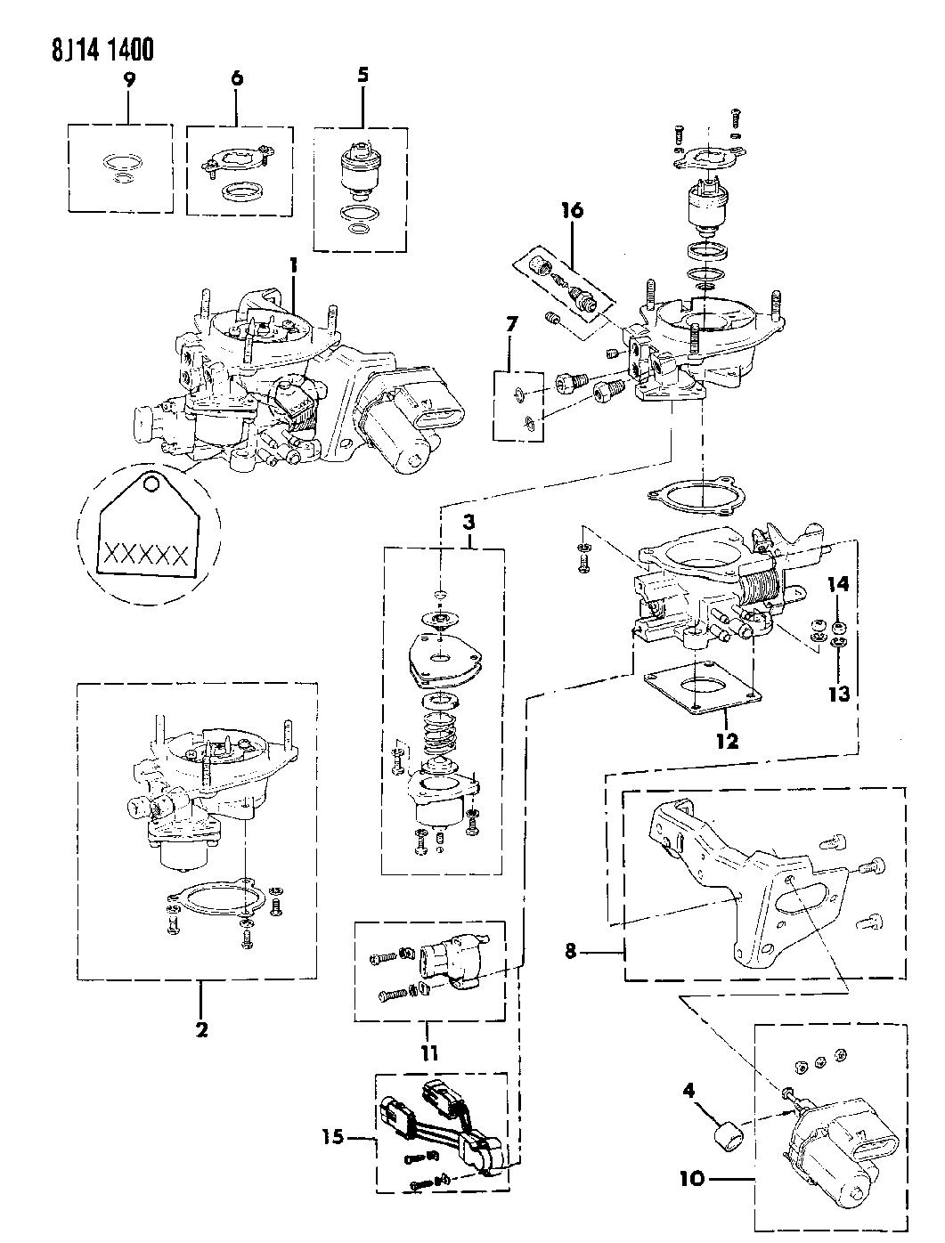 1988 Jeep Comanche Throttle Body