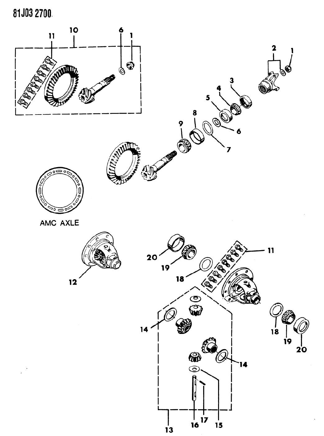 1986 Jeep J10 Differential Gears Mopar Parts Giant Diagram Thumbnail 1
