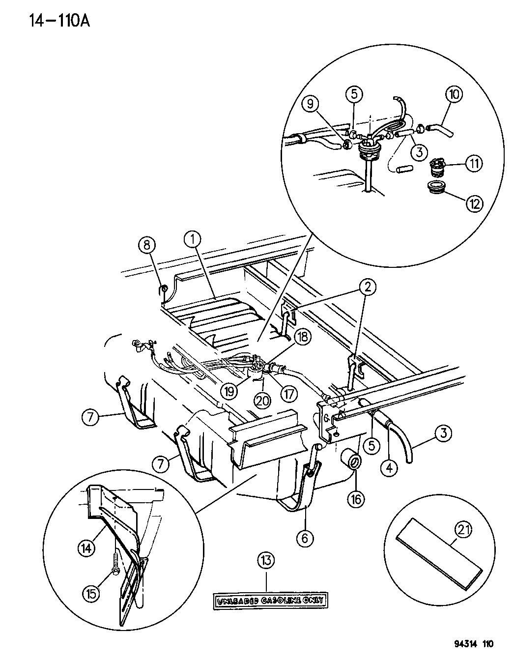 1996 Dodge Ram Van Fuel Tank