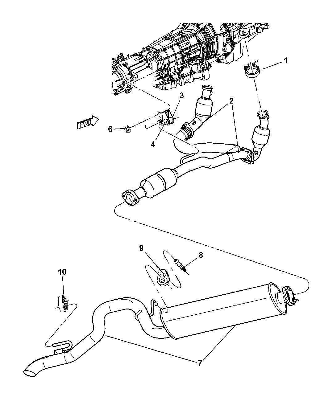 52128553ab Genuine Mopar Converter Exhaust