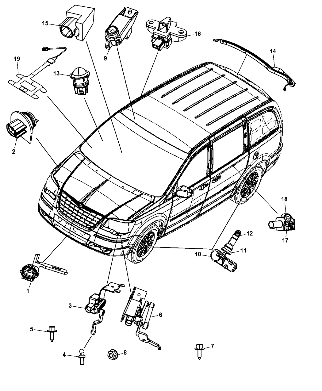 2003 Dodge Grand Caravan Radio Wiring Diagram Auto Electrical 2012 Trailer Related With