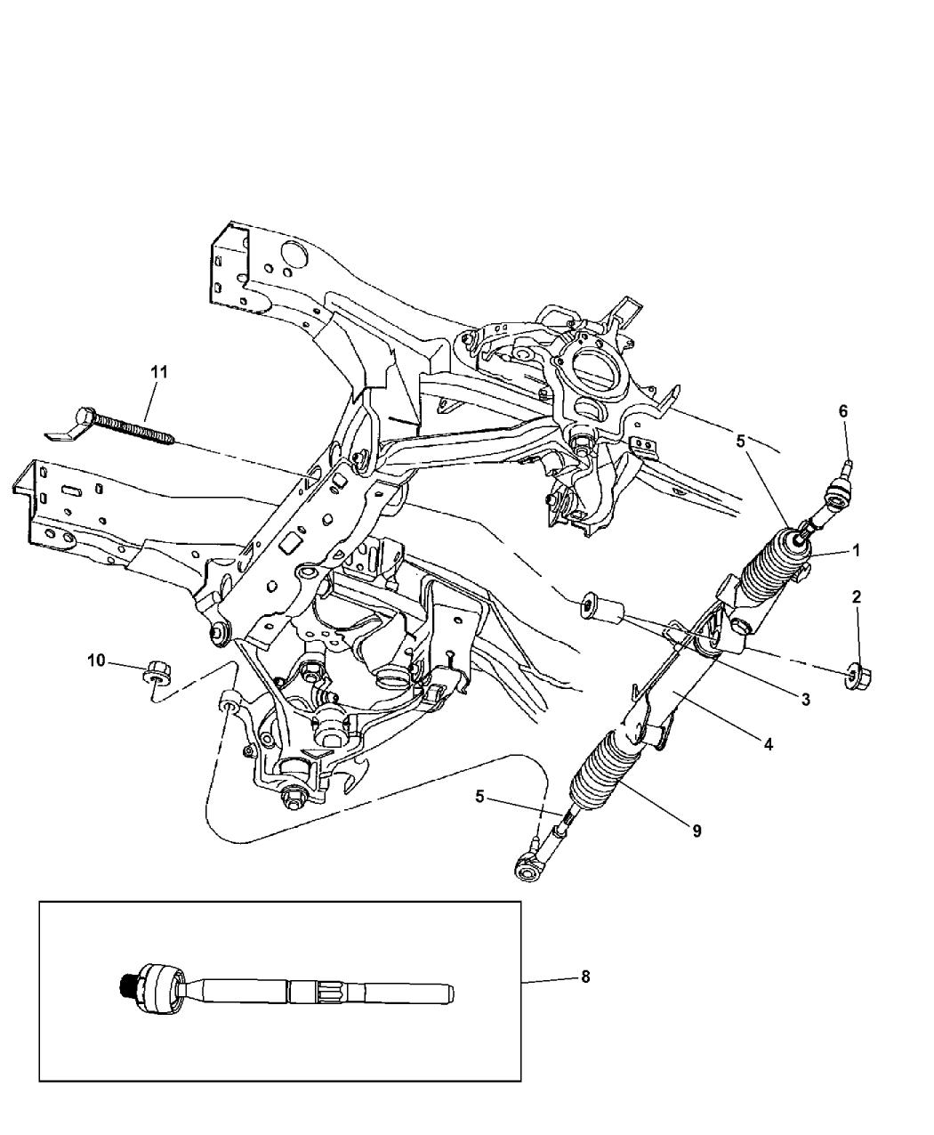 52038783ac Genuine Mopar Insulator Steering Gear
