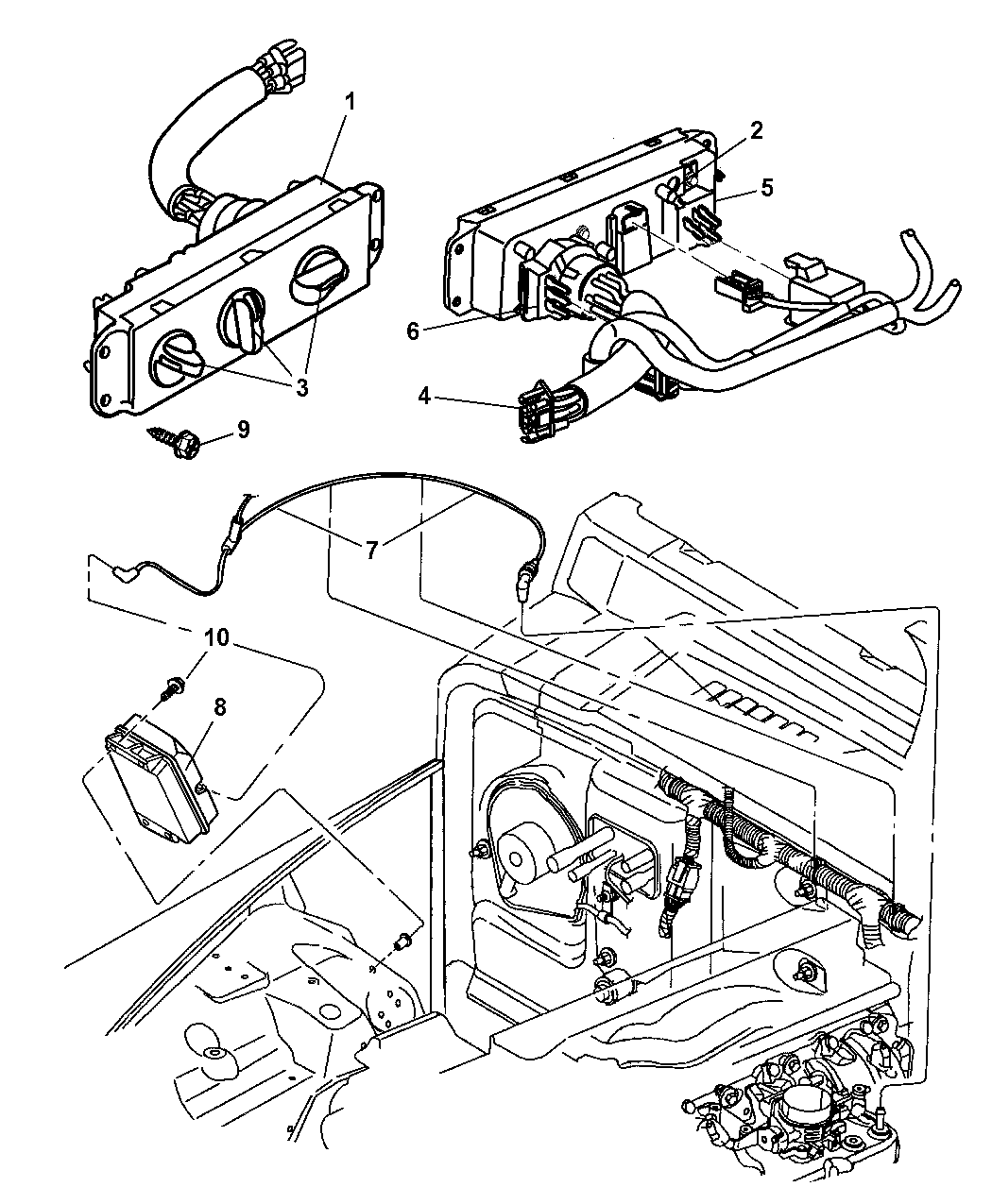 5183281aa genuine jeep knob a c and heater control ro 94 jeep wrangler blower motor wiring diagram 2006 jeep wrangler unlimited rubicon wiring diagram