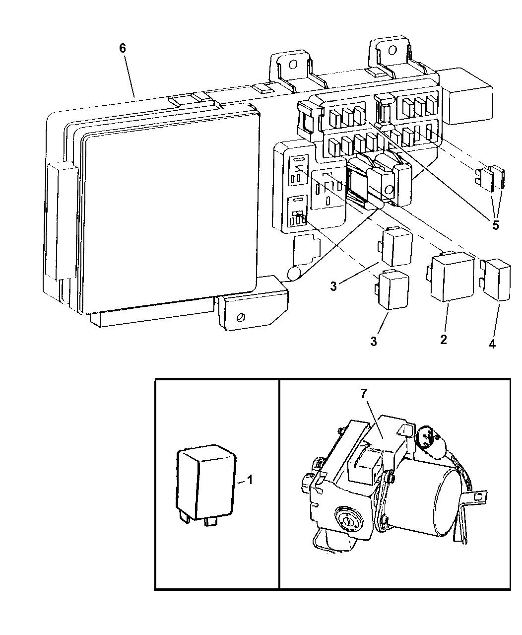 1999 Chrysler Sebring Convertible Relays Mopar Parts Giant Distribution Fuse Box Diagram
