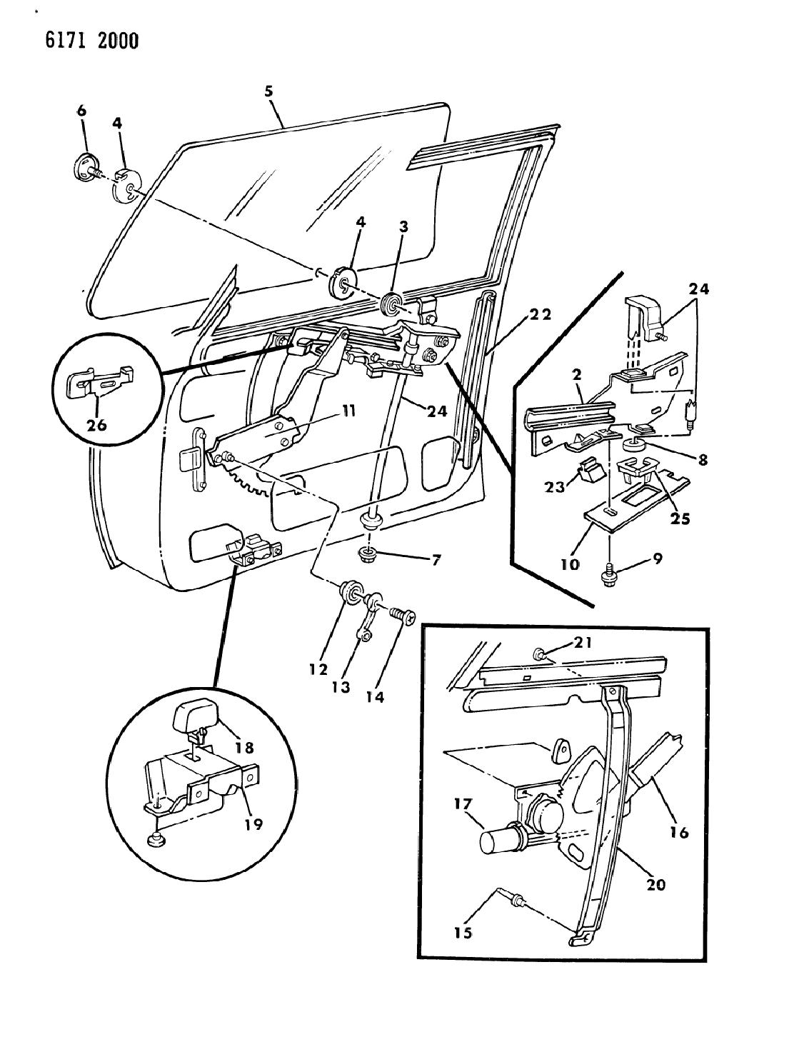 wiring diagram for 1986 chrysler lebaron base door, front gl &  regulator on tires for a,