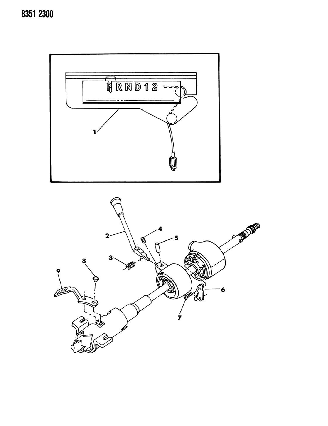 1989 dodge dakota controls, gearshift, steering column shift