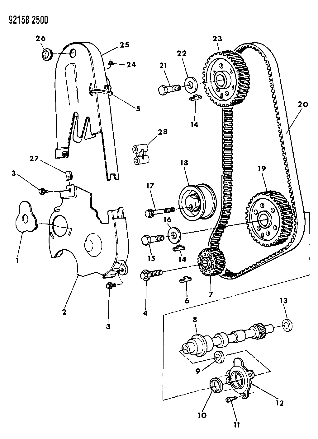 1992 Dodge Shadow Timing Belt Chain Cover Intermediate Shaft Wiring Diagram