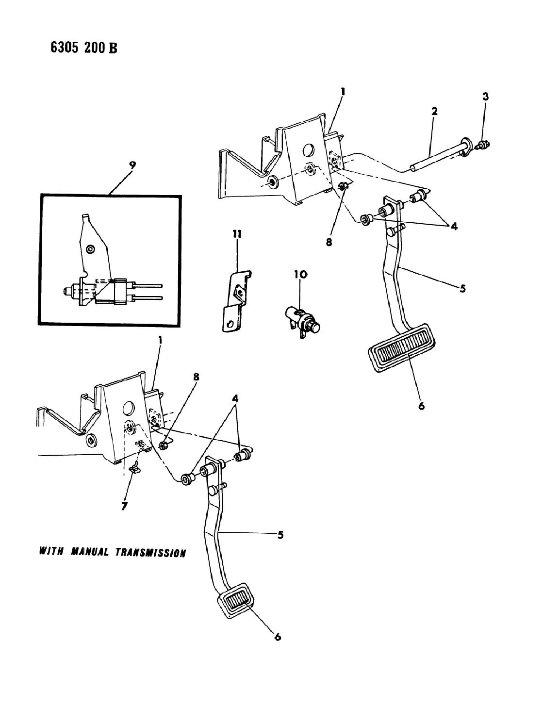 1987 Dodge Ramcharger Brake Pedal Mopar Parts Giant