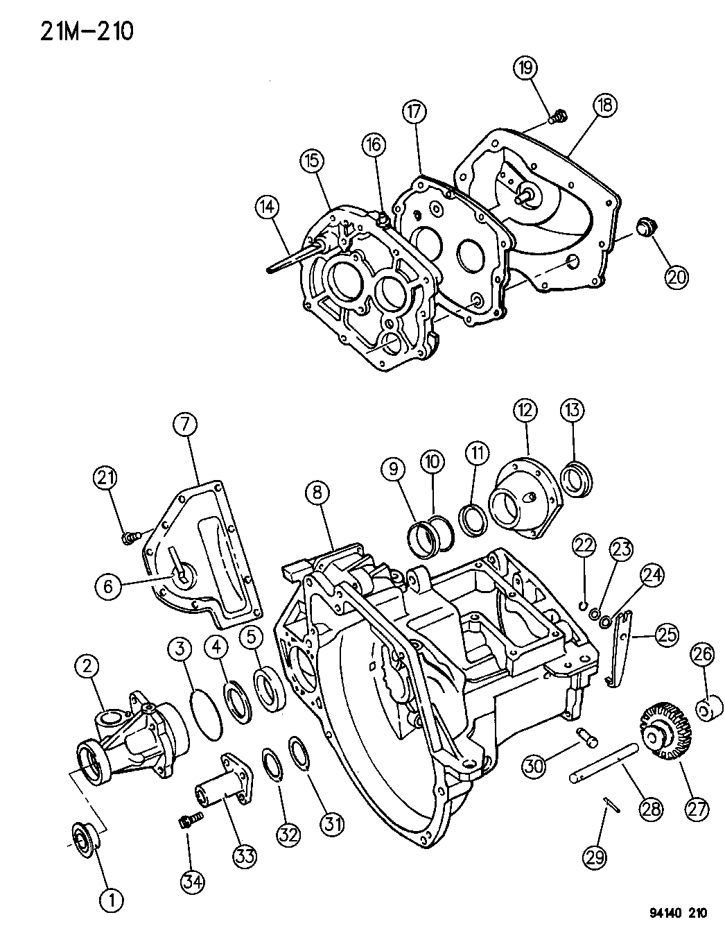 4531540 Genuine Chrysler Gear Trans Rev Idler 1994 Town Country Wiring Diagram Case Transaxle Related Parts