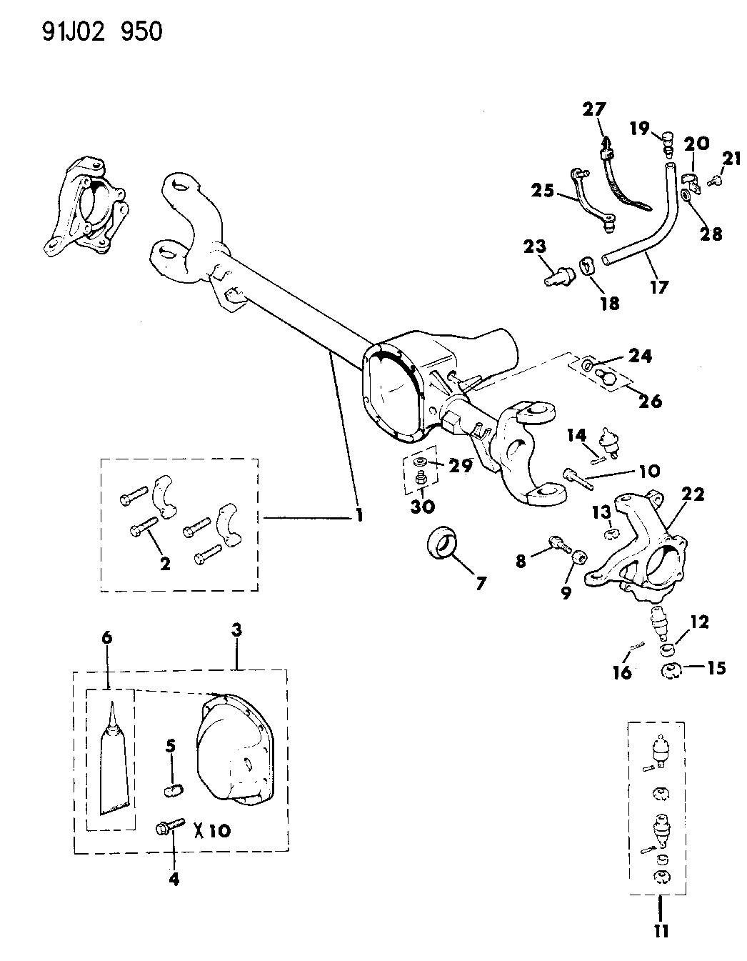 Jeep Wrangler Front Suspension Diagram
