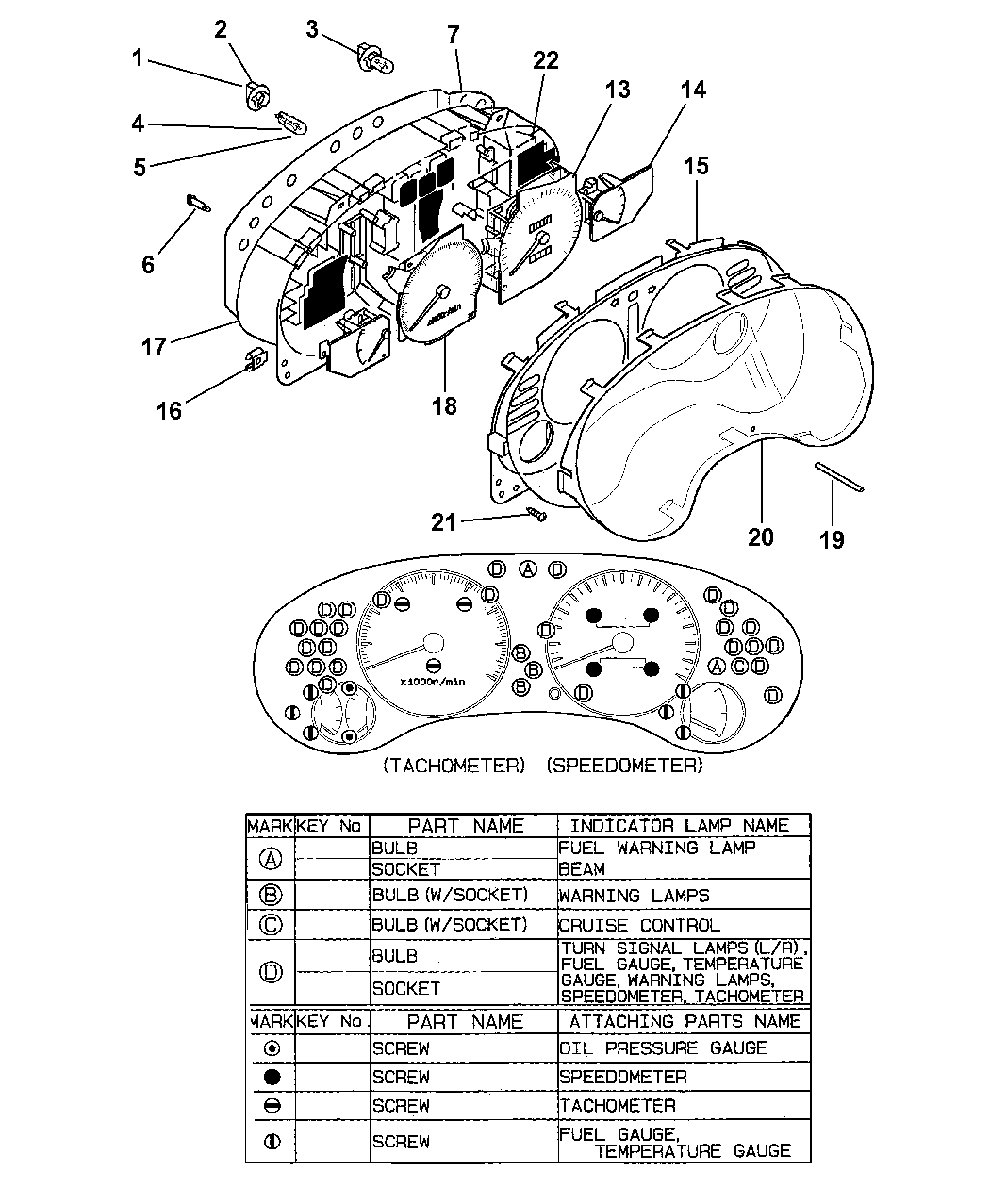 Mc883599 Genuine Mopar Screw Gauge Mounting