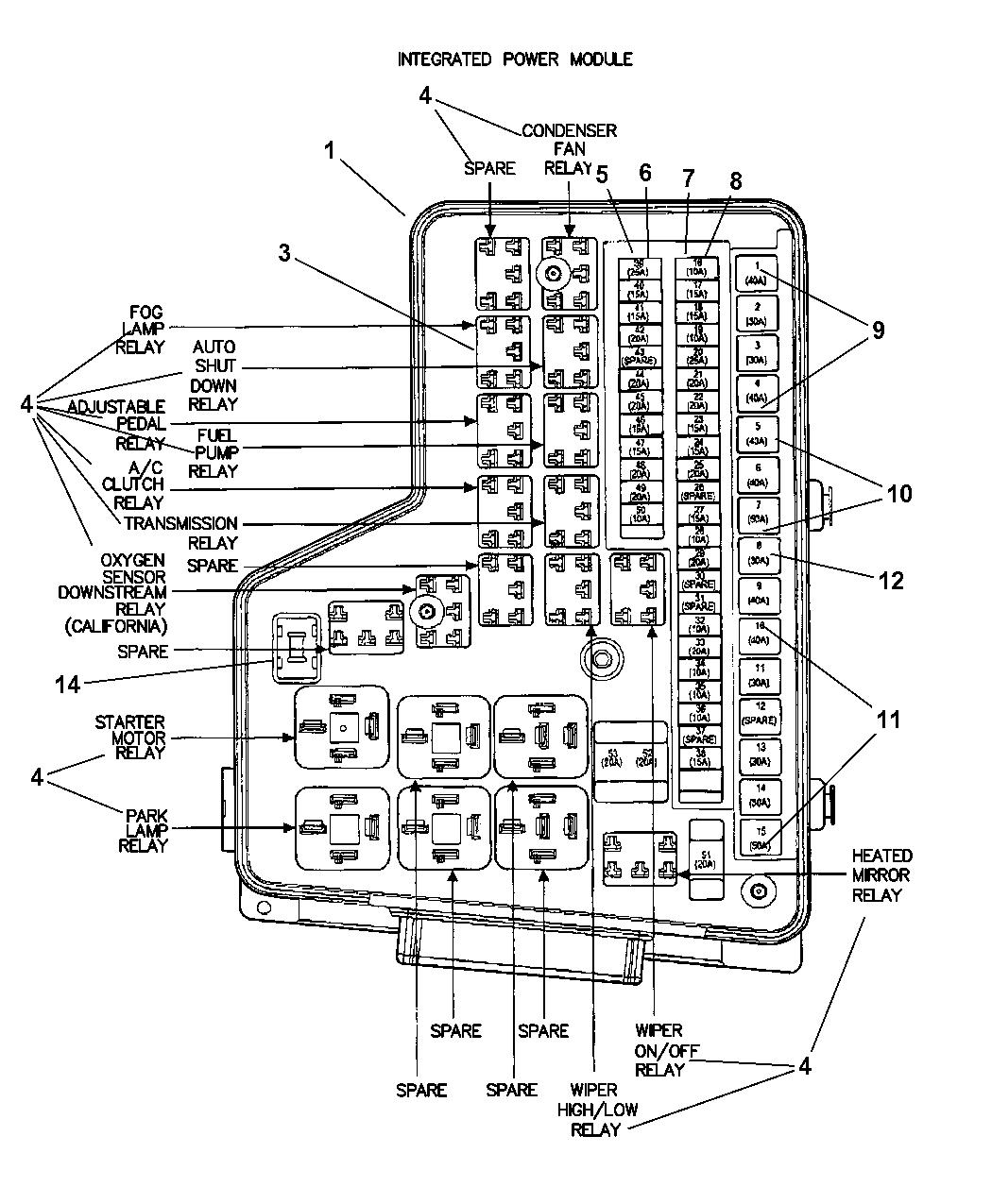 56049018ab genuine dodge relay micro rh moparpartsgiant com 2004 dodge ram 2500 fuse panel 2004 dodge ram 2500 wiring diagram