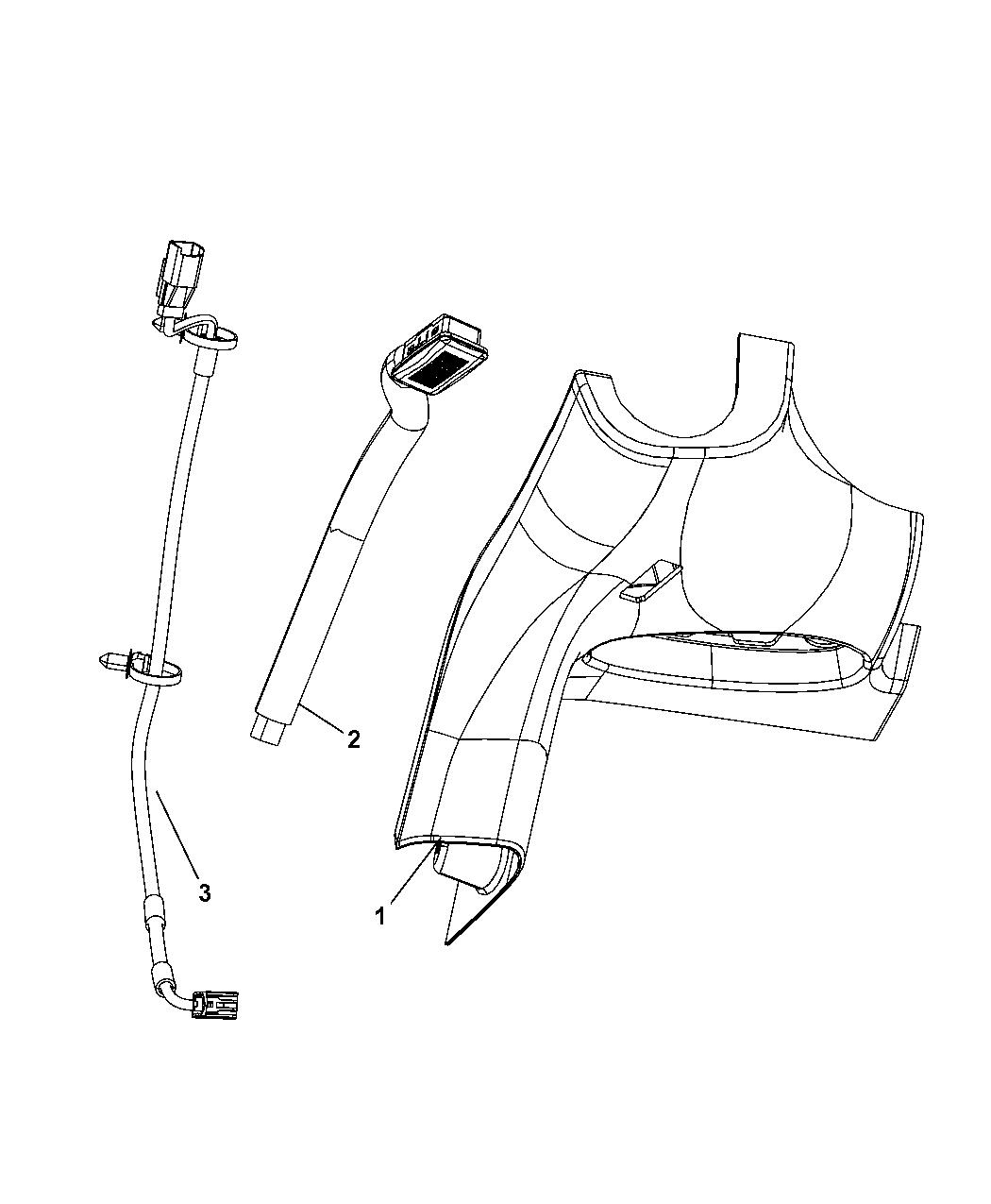 68057321AA - Genuine Mopar WIRING-JUMPER