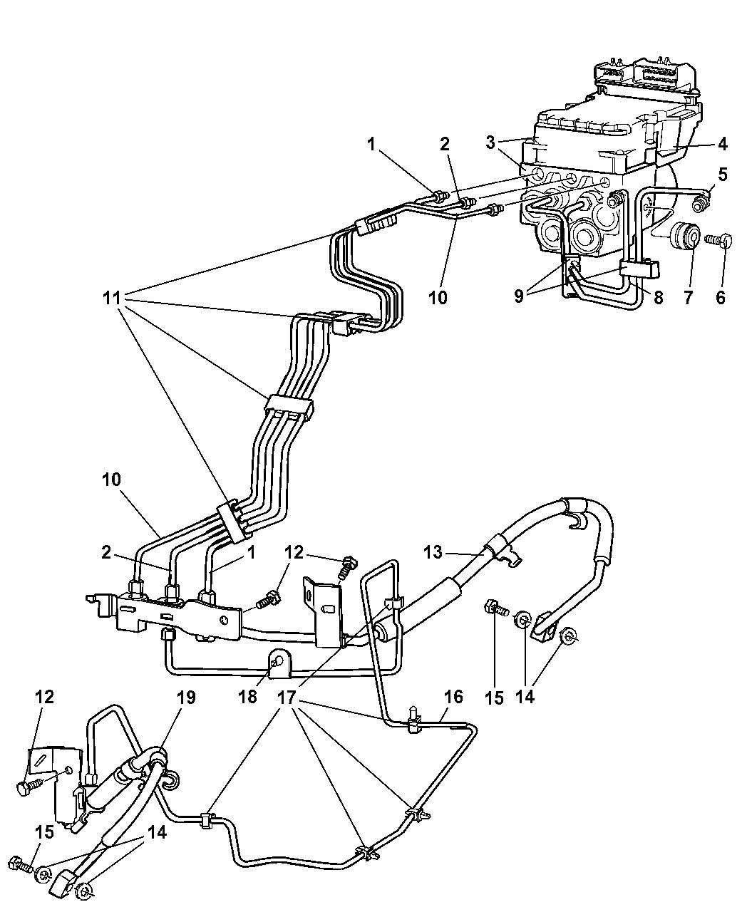55366224ak Genuine Mopar Module Anti Lock Brake