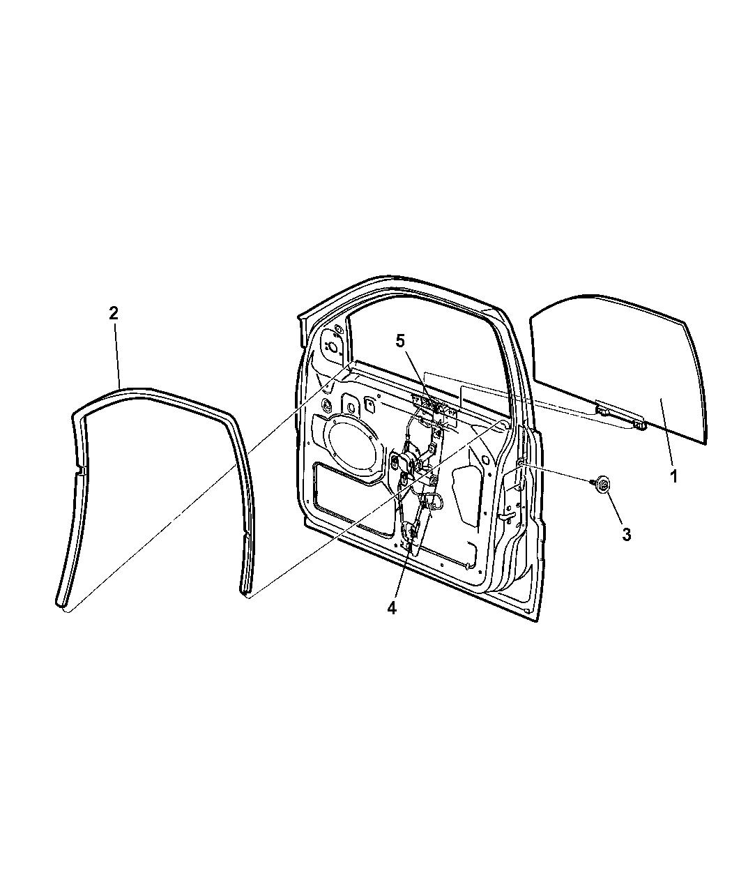 68059644aa genuine jeep regulator front door window. Black Bedroom Furniture Sets. Home Design Ideas