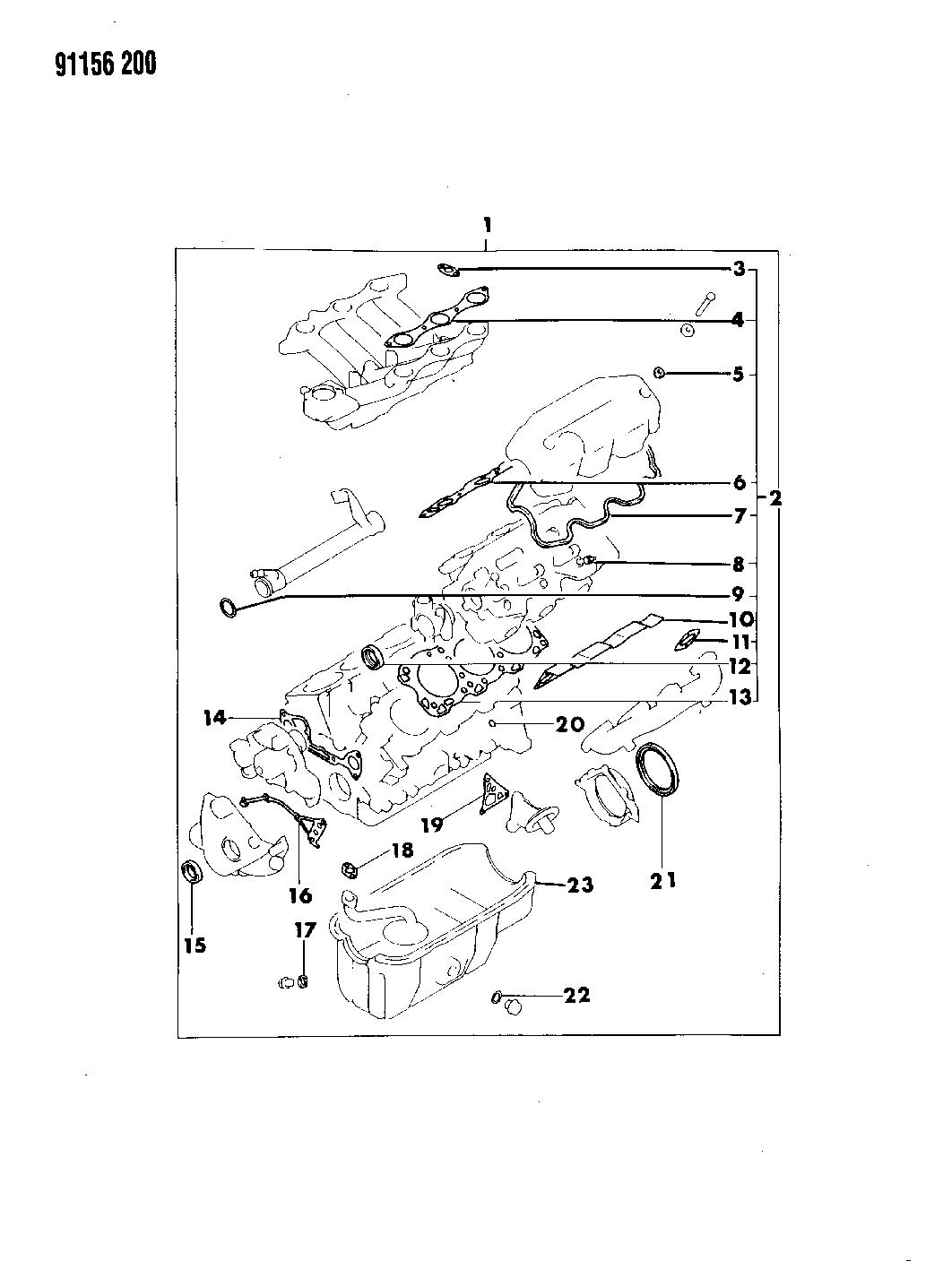 1991 dodge spirit engine diagram