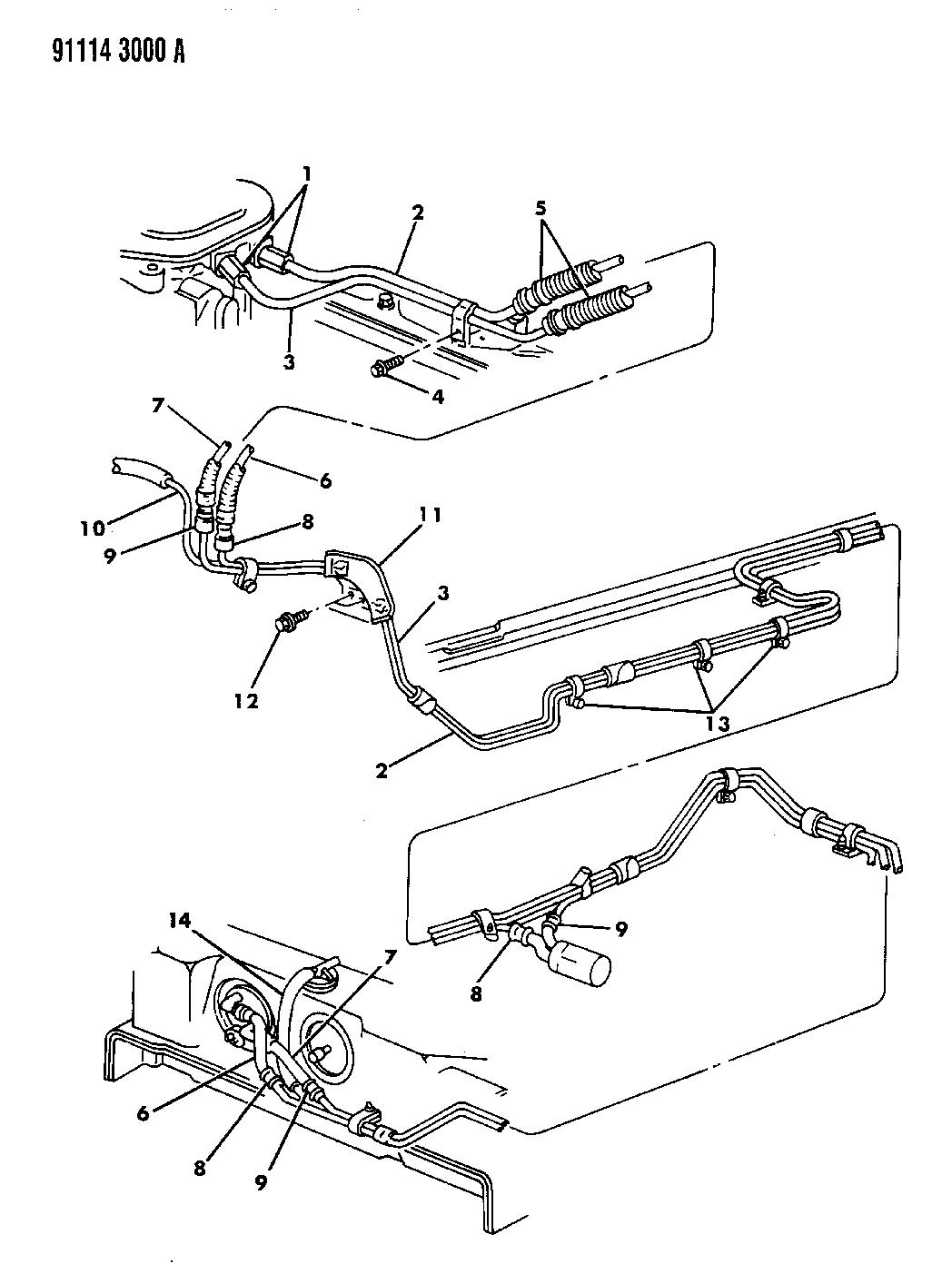 1991 Dodge Dynasty Fuel Lines Mopar Parts Giant Fuse Box