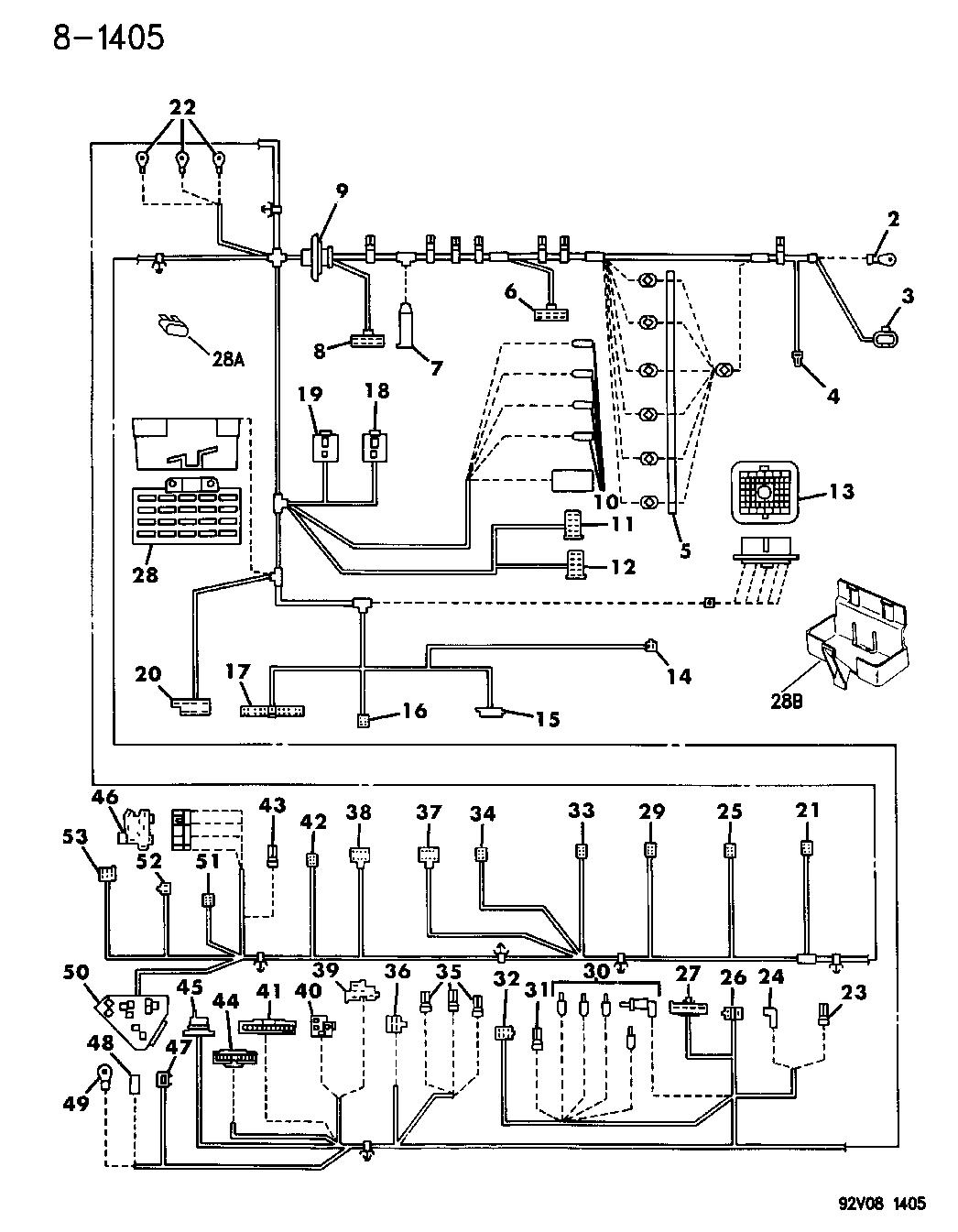1994 Dodge Viper Wiring - Instrument Panel - Mopar Parts Giant
