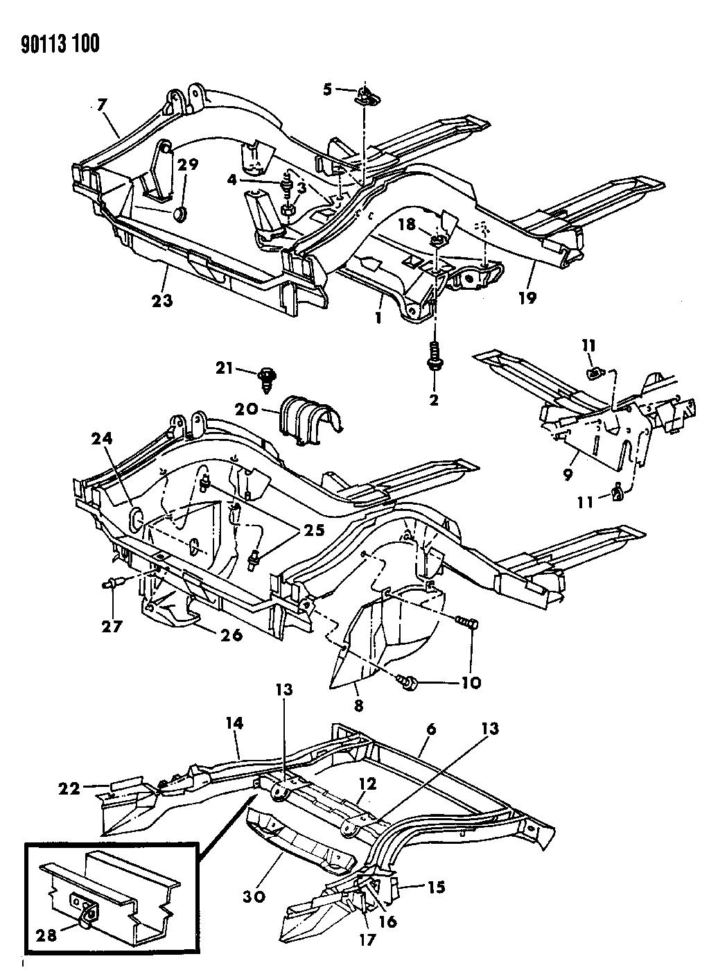 1990 Dodge Omni Frame Mopar Parts Giant Wiring Diagram
