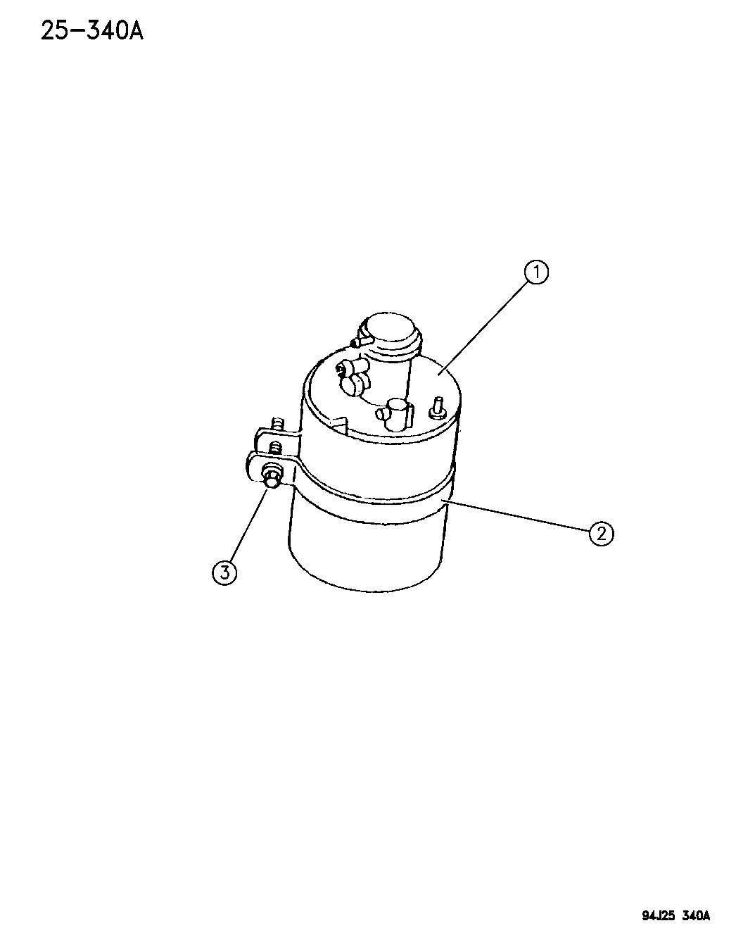 1995 jeep cherokee vacuum canister - thumbnail 1