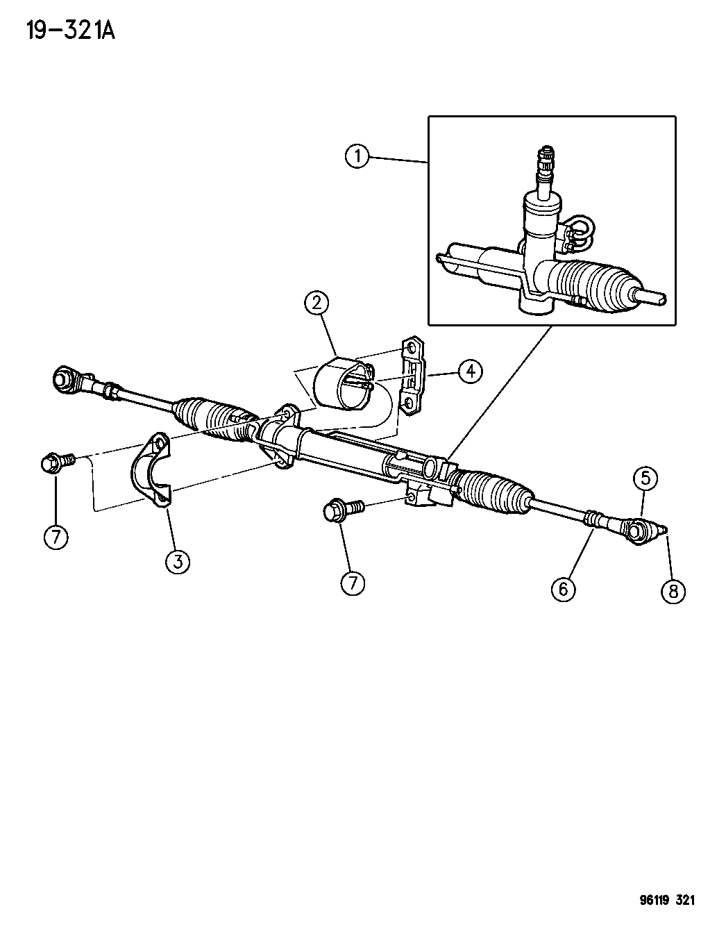 1996 Dodge Caravan Transmission Parts Diagram • Wiring