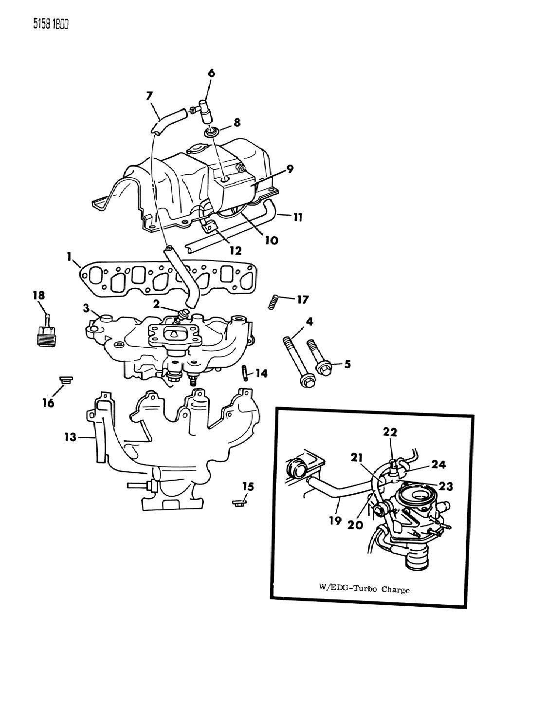 [SCHEMATICS_4PO]  1985 Chrysler LeBaron GTS Manifold - Intake, Exhaust, Crankcase Vent System | 1985 Chrysler 2 2l Engine Diagram |  | Mopar Parts Giant