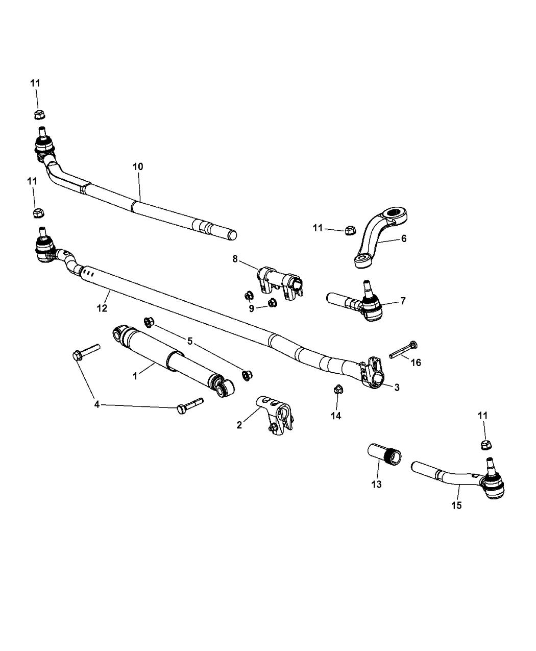 Groovy 2016 Jeep Wrangler Steering Linkage Mopar Parts Giant Wiring Digital Resources Bemuashebarightsorg