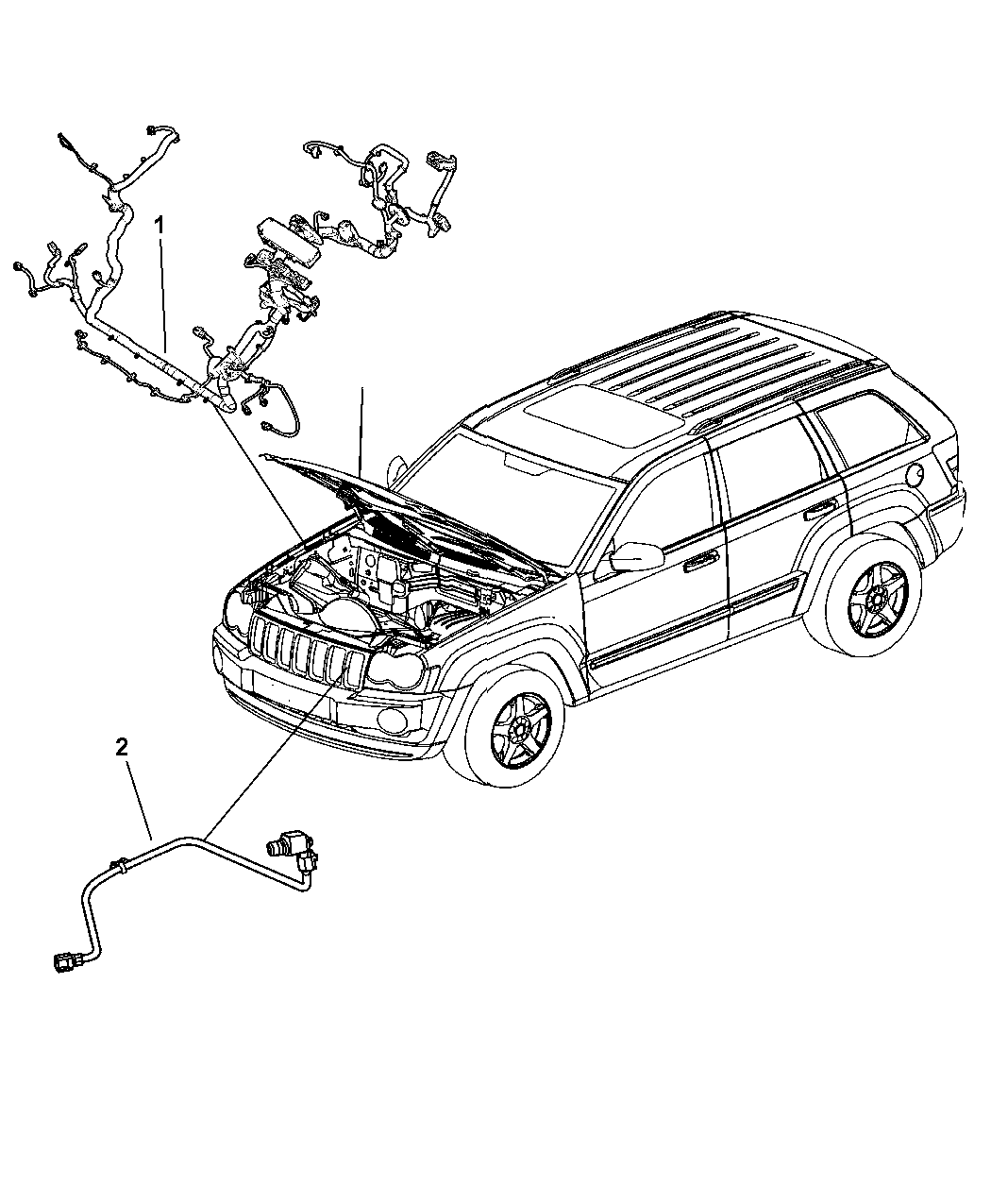 Genuine Jeep WIRING-HEADLAMP TO DASH