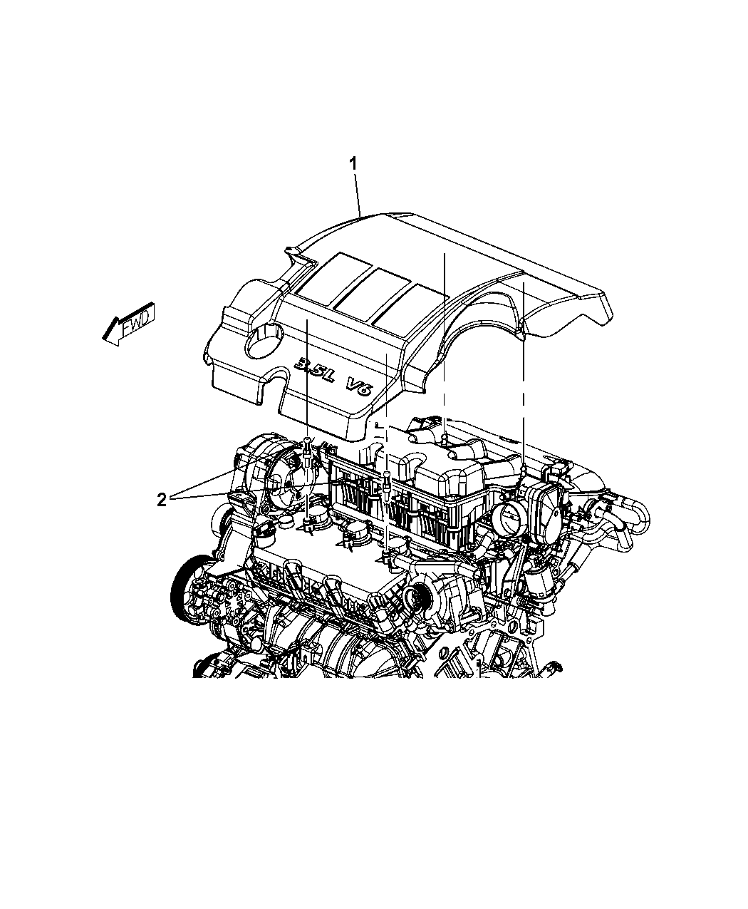 2009 Dodge Avenger Engine Cover Related Parts Diagram Thumbnail 4
