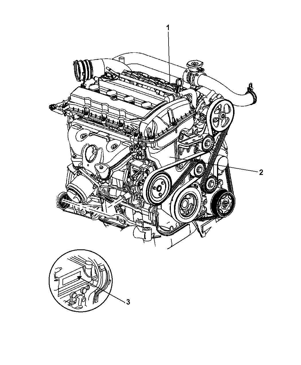 4884884ca genuine jeep engine long block. Black Bedroom Furniture Sets. Home Design Ideas