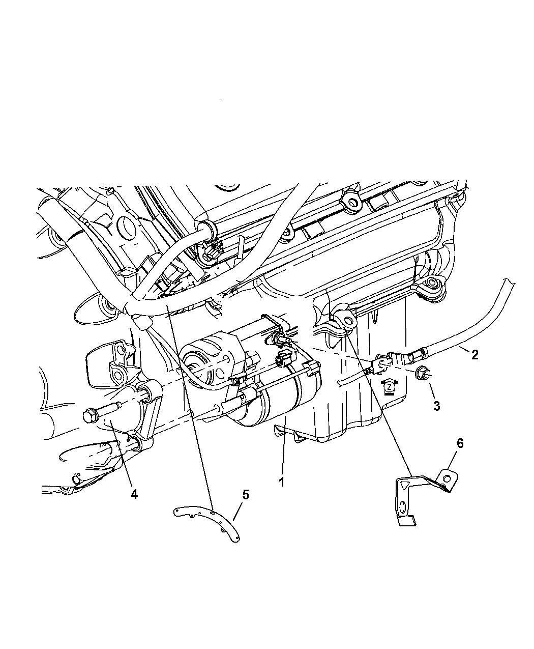 4896464ac Genuine Dodge Starter Engine