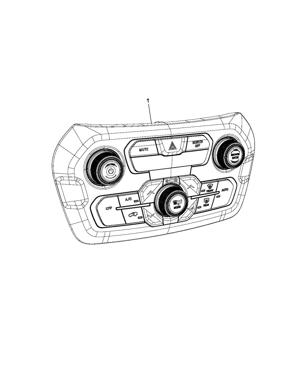 2020 Jeep Renegade A  C  U0026 Heater Controls