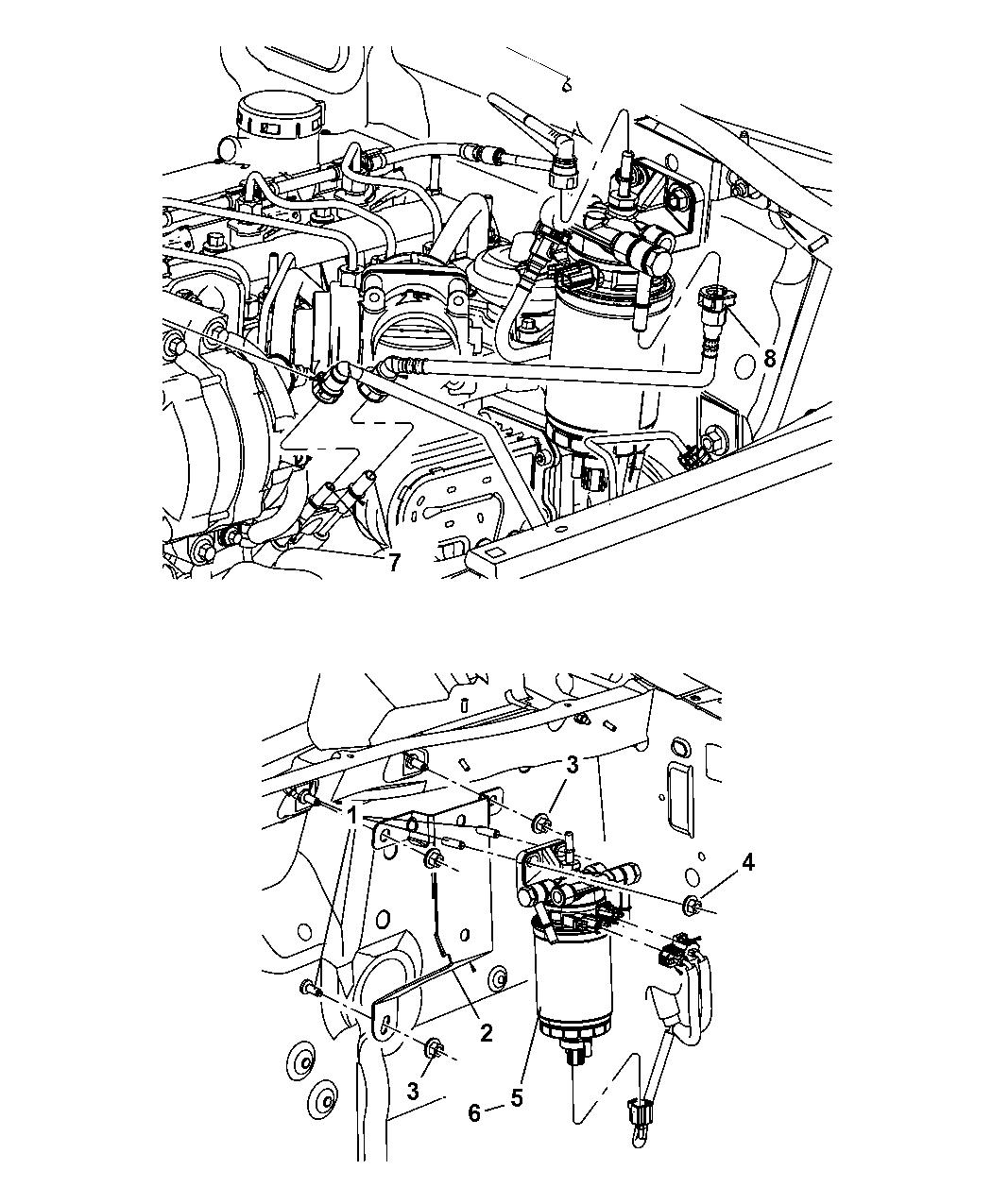 2007 dodge nitro fuel filter  u0026 water separator